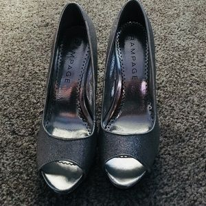 Rampage Open toed pumps